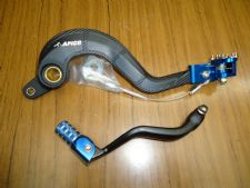 New HUSQVARNA TC TE 250 14-16 TE 300 14-16 Rear Brake & Gear Pedal Lever Blue